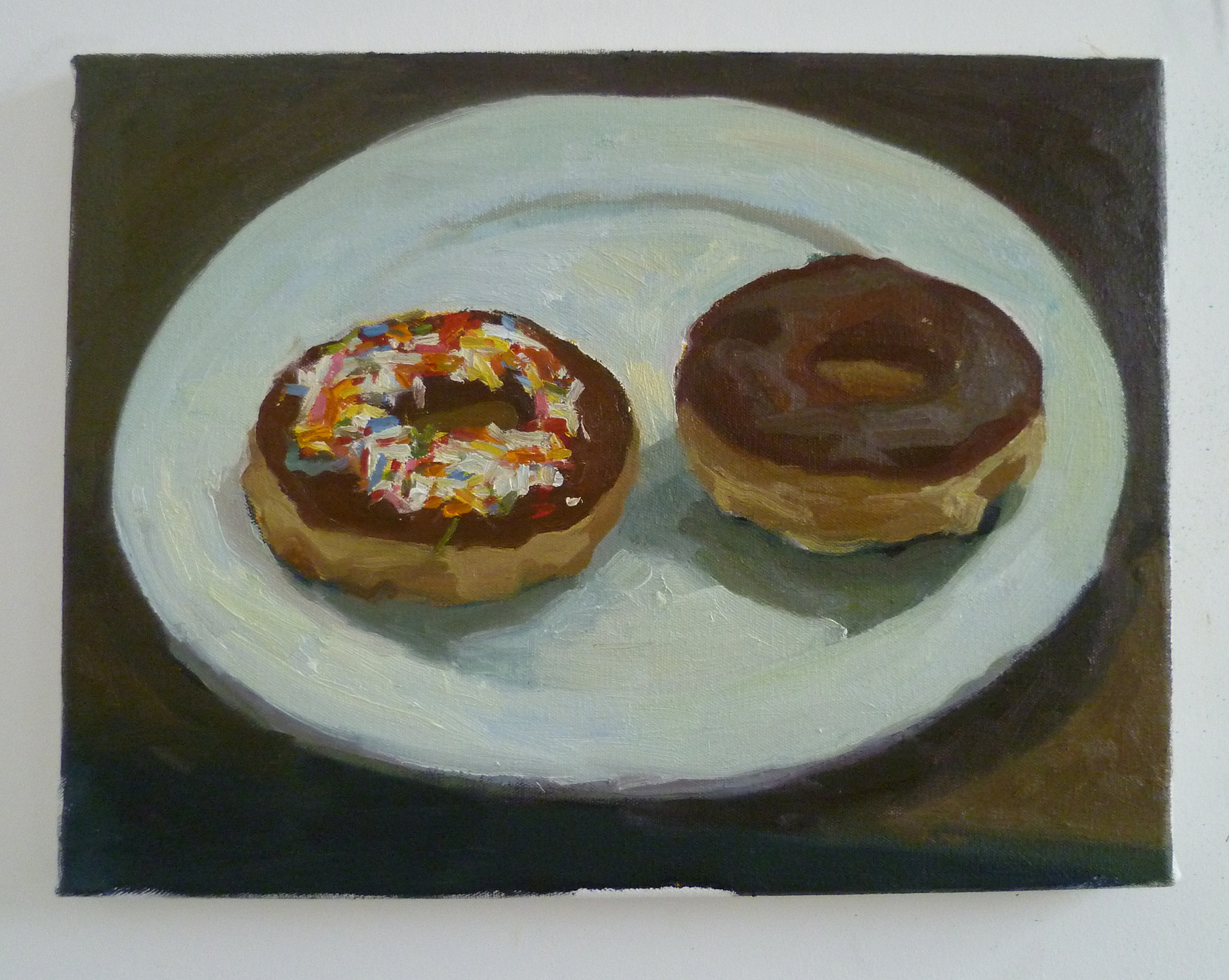 Three doughnuts Oil on canvas 35 x 55cm approx 2010