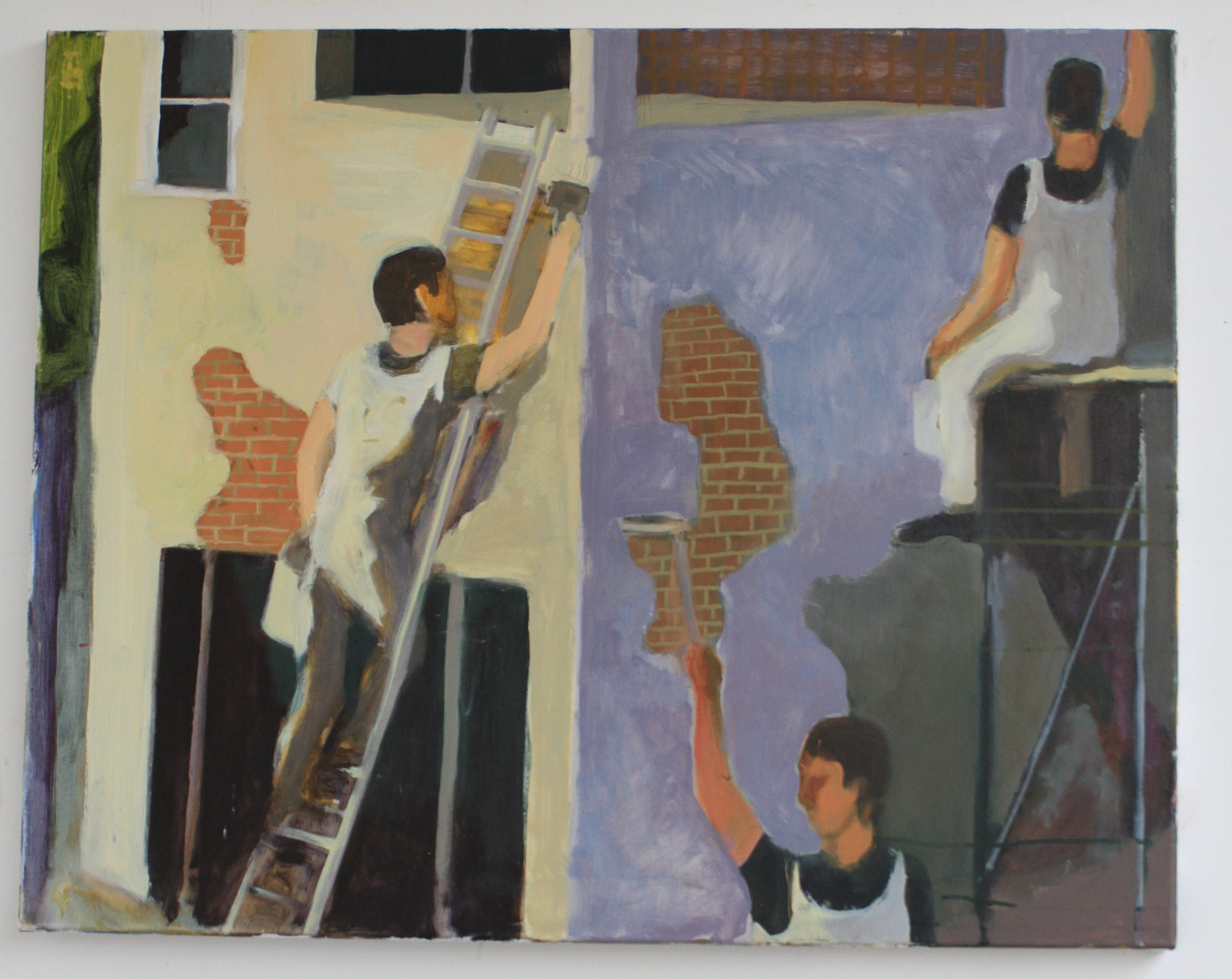 Housepainters oil on canvas 50 x 70cm (approx) 2011