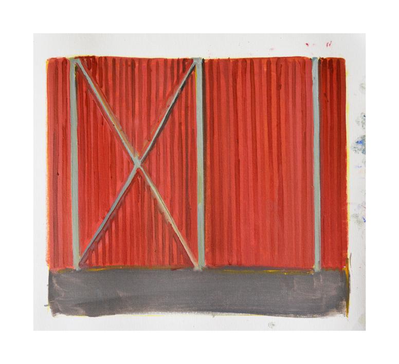 Warehouse, Skagastrond Oil on canvas 30x35cm  2017