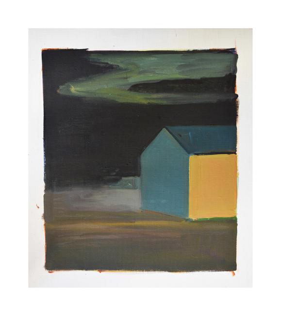 Skagastrond, night  Oil on canvas 30x35cm  2017