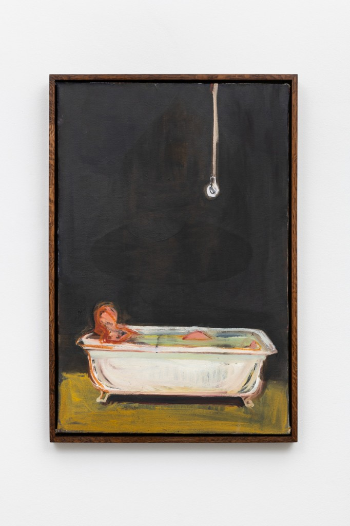 Figure in the bath oil on canvas 50x30cm 2018