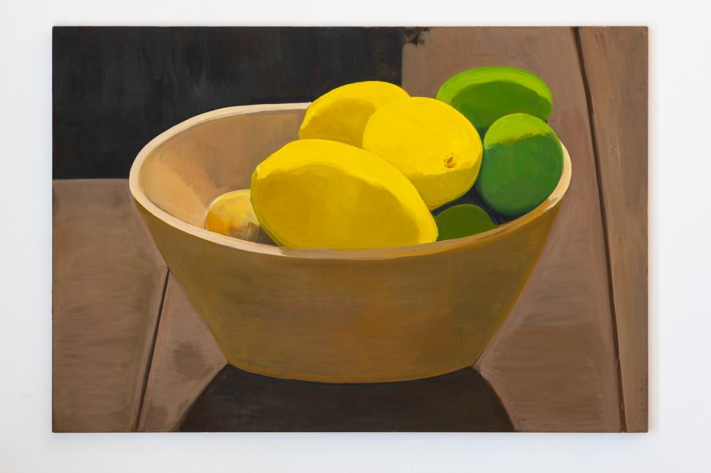 Lemons and limes oil on linen 190x140cm 2018