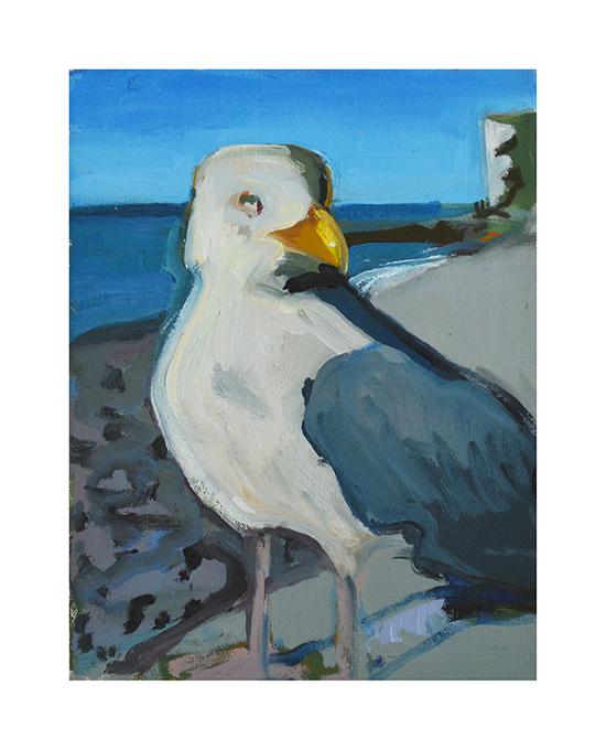 Seagull, Dieppe oil on canvas 14x18cm 2018
