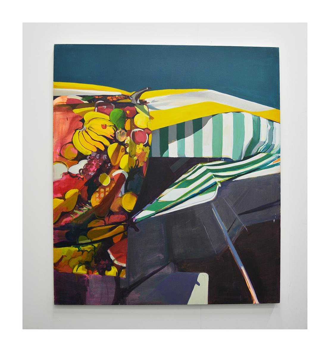 East Street (Fruit Stall) oil on canvas 160x140cm 2020